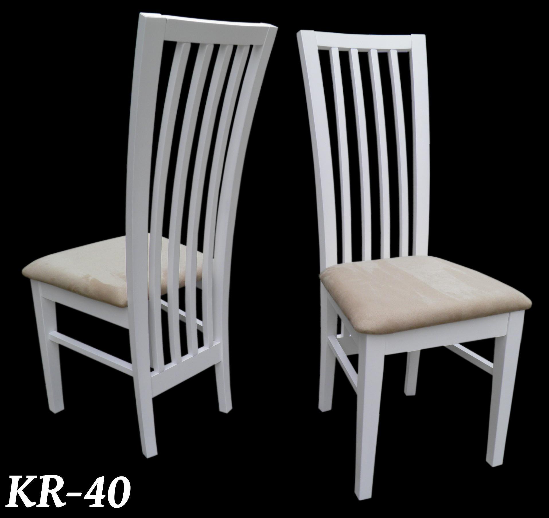 krzes o nowoczesne bia e krem model 40 st plus krzes a. Black Bedroom Furniture Sets. Home Design Ideas