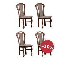 Komplet krzeseł drewnianych do salonu