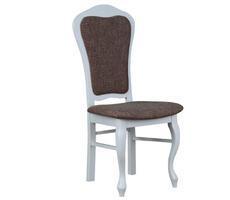 Krzesło stylowe białe/krem KR-35