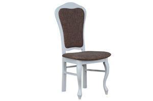 Krzesło stylowe białe/krem model 35
