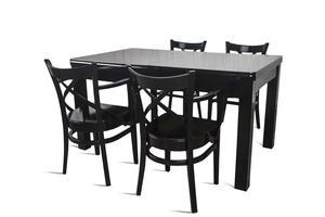 Stół + 4 krzesła - MDF POŁYSK