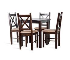 Stół + 4 krzesła - ST-35 średnica 90 lub 80 cm + 4 KR-80