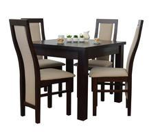 Stół + 4 Krzesła - Stół Rozkładany do 190 cm