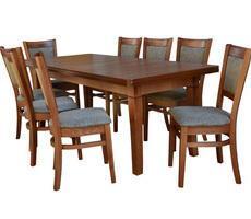stół + 6 krzeseł - MDF