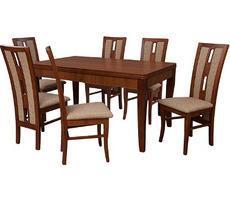 Stół + 6 krzeseł - MDF DIAMENT