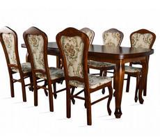 Stół + 6 krzeseł -  MDF LUDWIK