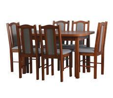 STÓŁ + 6 KRZESEŁ - stół rozkładany