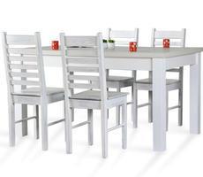 Stół 80x140 do 180cm + 4 krzesła