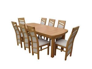 Stół + 8 krzeseł - MDF