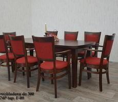 Stół + 8 krzeseł -  OKLEINA NATURALNA