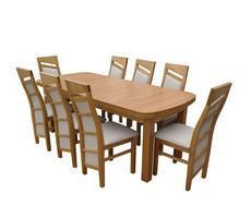 Stół + 8 krzeseł - STÓŁ MDF