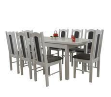 Stół + 8 Krzeseł - Stół Rozkładany