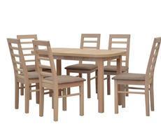Stół do jadalni - rozkładany do 162cm z krzesłami