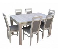 Stół do jadalni - rozkładany do 190cm z krzesłami
