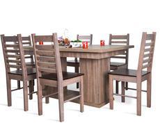 Stół do jadalni W1 na kolumnie z krzesłami 26T