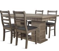 Stół do jadalni W1 na kolumnie z krzesłami model 83