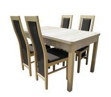 Stół do jadalni z krzesłami - rozkładany