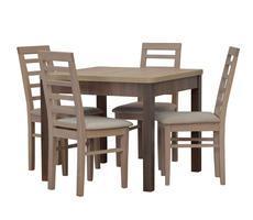 Stół do jadalni z krzesłami - rozkładany do 190 cm