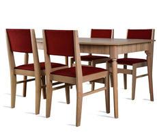 Stół do pokoju - rozkładany do 200cm + 4 krzesła