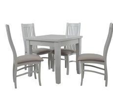 Stół do pokoju z krzesłami - BIAŁY/KREM