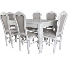 Zestaw Stół ludwik rozkładany i 6 krzeseł