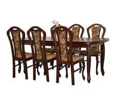 Stół do salonu - rozkładany do 300cm + 6 krzeseł