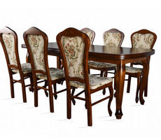 Stół do salonu W4 z krzesłami model 35