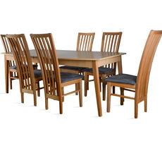 Stół do salonu W6 z krzesłami model 40