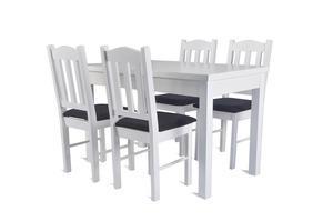 Stół drewniany do pokoju z krzesłami - rozkładany