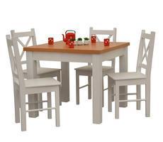 Stół drewniany kwadratowy + 4 krzesła