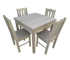Stół drewniany kwadratowy z krzesłami