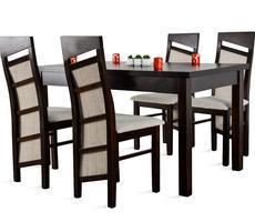 Stół drewniany - rozkładany do 180cm + 4 krzesła