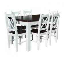Stół drewniany rozkładany do 180cm + 6 krzeseł