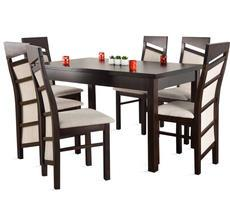 Stół drewniany - rozkładany do 180cm + 6 krzeseł