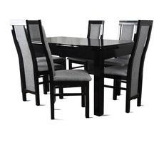 Stół drewniany rozkładany z 6 krzesłami - do 190cm