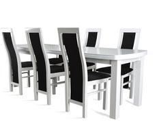 Stół drewniany rozkładany z 6 krzesłami - do 240cm