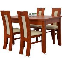 Stół drewniany z 4 krzesłami - rozkładany do 180cm