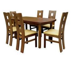 Stół drewniany z krzesłami 80x150 - rozkładany