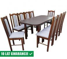 Stół i krzesła do jadalni - rozkładany do 180cm