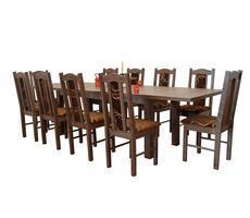 Stół i krzesła do jadalni - rozkładany do 300cm