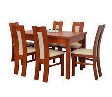 Stół i krzesła do salonu - drewniany