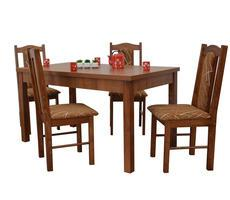 Stół i krzesła do salonu - rozkładany do 180cm