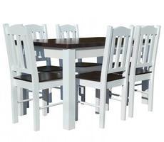 Stół i krzesła drewniane - rozkładany