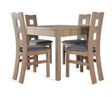 Stół kuchenny 90x90cm z 4 krzesłami