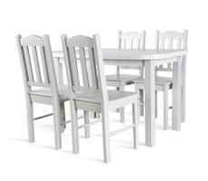 STÓŁ kuchenny rozkładany do 162cm + 4 krzesła