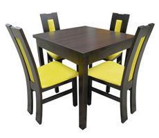 Stół kwadratowy 90x90 z krzesłami