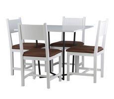 Stół kwadratowy Alabama z krzesłami KR 104