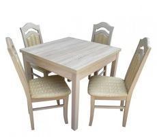 Stół kwadratowy do salonu 90x90 + 4 krzesła