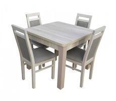 Stół kwadratowy - rozkładany do 190cm + 4 krzesła