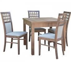 Stół kwadratowy z krzesłami - rozkładany do 190 cm